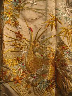 kimono embroidery | Japanese Wedding Kimono: Embroidery Detail | Flickr - Photo Sharing!