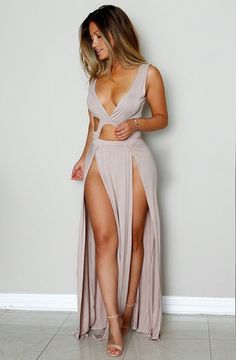 Karina Dress- Taupe