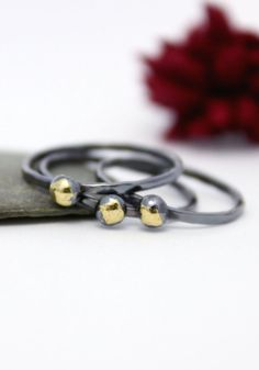 Little Gold Star Stacking Ring Statement Ring Tiny by rosajuri