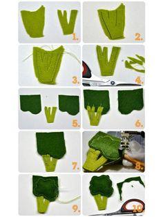 Nähanleitung für Brokkoli aus Filz