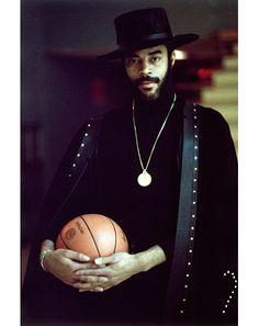 NBA player Walt 'Clyde' Frazier