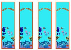 Finding Dory Bookmarks