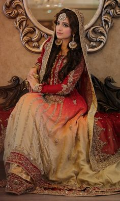 Latest Pakistani designer bridal dresses Maria B Brides Collection includes beautiful patterns, designs & styles of Asian & western wedding dresses. Latest Bridal Dresses, Beautiful Bridal Dresses, Bridal Outfits, Western Wedding Dresses, 2015 Wedding Dresses, Wedding Themes, Wedding Dressses, 2017 Wedding, Wedding Ideas