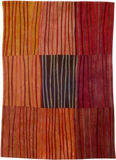 Abstract Contemporary Textile Painting / Art Quilt - Markings #12 ©2006 Lisa Call