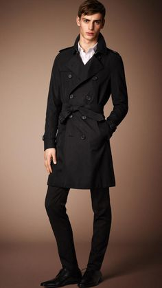$1,895, Black Trenchcoat: Burberry The Sandringham Long Heritage Trench Coat. Sold by Burberry. Click for more info: https://lookastic.com/women/shop_items/306984/redirect