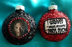 The Walking Dead Daryl Dixon Ornament set by MysteresMasquerade. , via Etsy.