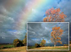 Easily add a rainbow, even a double rainbow, to a photo.