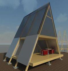 The Eco Cabin Blog - ERANARC PLLC: Update 12-25-2012-A Frame Cabin