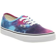 Vans Authentic found on Polyvore featuring shoes, sneakers, vans, trainers, tie dye pink, unisex sports, lace up shoes, skate shoes, sports shoes and tie dye sneakers