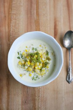 Hatch Chile Corn Chowder - notjustbaked.com