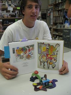 Interpretation of Kandinsky painting. Have kids create a sculpture based on a work of art!