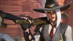 'Overwatch' reveals badass new outlaw hero Ashe Overwatch New Hero, Arthur Costume, Overwatch Females, Cosplay Costumes, Halloween Costumes, Fandoms Tumblr, Overwatch Wallpapers, Red Dead Redemption Ii, Best Waifu
