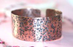 Rustic Hammered Copper Cuff Bracelet