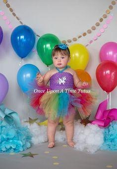 Rainbow Unicorn Tutu Dress - Girls Size Newborn 3 6 9 12 18 Months 2T 3T 4T 5 6 - Unique Cake Smash Theme Outfit - Halloween Costume by OnceUponATimeTuTus on Etsy https://www.etsy.com/listing/232883346/rainbow-unicorn-tutu-dress-girls-size