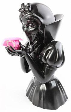 """Bad Apple""   Noir Edition   Materials: Resin   Edition: 50   Artist: GOIN"