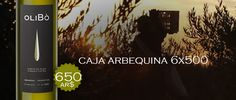 Arbequina 6 unidades de 500 ml.  Aceite de oliva virgen extra de Mendoza Argentina. Aceite varietal.