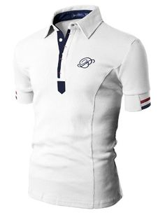 Doublju Mens Polo T-shirts with Short...