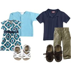 Very cute mini his and hers look from @diapersdotcom via @babycenter