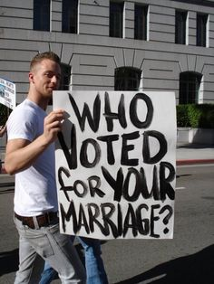 nope. i never voted for straight marriage...they just kinda did it and ihad to accept it.