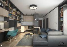 Mieszkanie w Warszawie - Salon - zdjęcie od KamińskaStańczak - Salon - Styl Nowoczesny - KamińskaStańczak