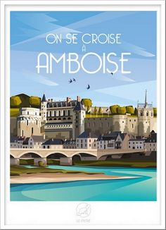 Continents, Vintage Posters, France, Mansions, House Styles, Travel, 2d, Illustrations, Deco