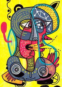 eric meyer, peinture, dessin, posca, contemporain, figuration, libre, ligne