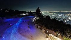 大阪方面の夜景と摩耶★きらきら小径