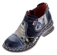 Damen Leder Comfort Knöchel Schuhe TMA 5195 Halb Schuhe Schwarz-Grau Blau Weiß Rot Grün Blockabsatz Boots - http://on-line-kaufen.de/tma/damen-leder-comfort-knoechel-schuhe-tma-5195-halb