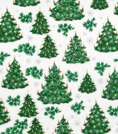 Holiday Inspirations Christmas Fabric Trees With Candles Metalic
