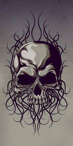 Tattoo skull art