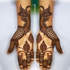 Explore Best Mehendi Designs and share with your friends. It's simple Mehendi Designs which can be easy to use. Find more Mehndi Designs , Simple Mehendi Designs, Pakistani Mehendi Designs, Arabic Mehendi Designs here. Palm Mehndi Design, Rose Mehndi Designs, Latest Bridal Mehndi Designs, Full Hand Mehndi Designs, Stylish Mehndi Designs, Mehndi Design Photos, Wedding Mehndi Designs, Beautiful Mehndi Design, Latest Mehndi Designs