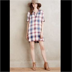 Anthropologie Cloth & Stone plaid tunic dress. This dress is super cute! True to size. Note that the first two photos are for fit only. The plaid that I am selling is a different pattern. See third picture. No trades. Offers welcome.✌️☺️ Anthropologie Dresses