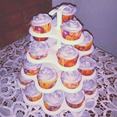 Orange poppy seed cupcakes with orange buttercream