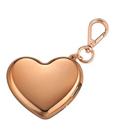 Rose Gold Key Chain Heart Charger