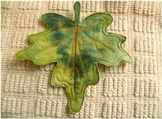 Art Threads: Wednesday Sewing - Leaf Art Coasters