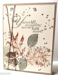 """Stampin' Up! """"French Foliage"""" stamp set - ♥ it, just bought it!!!"""