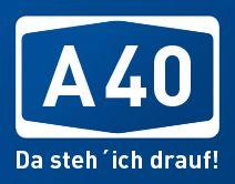 A40 Da steh' ich drauf! Aufkleber Sticker