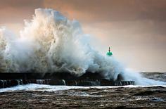 Crashing to the shore