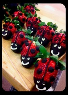 Ladybug Strawberries... - Ladybug Strawberries...  Repinly Food & Drink Popular Pins