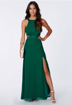 €56 Anthea Cut Out Split Maxi Dress - Maxi Dresses - Missguided | Ireland