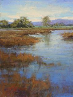 Kim Lordier painting, Delta Wetlands, 12x9, pastel