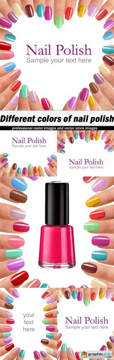 Different colors of nail polish  5 UHQ JPEG  stock images