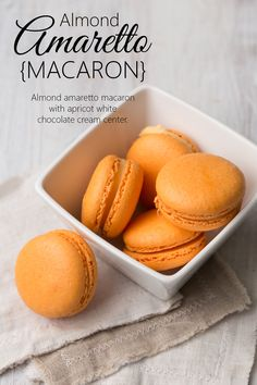 Introducing our June macaron of the month - Almond Amaretto. Mmm Refreshing!
