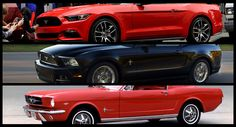 We Visually Compare the New 2015 Mustang to the Previous One and the Original