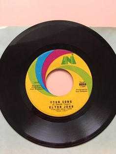 1970 Elton John Your Song/Take Me To The Pilot 45 RPM vinyl record single - seventies - MCA Records by SweetEmotionVintages on Etsy