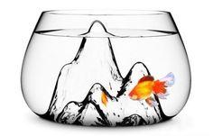 Ink painting fish tank design