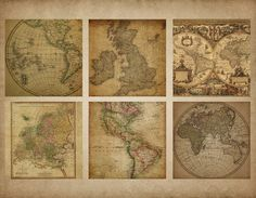 Vintage maps instant download vintage maps antique maps vintage maps instant download vintage maps antique maps scrapbook paper vintage paper digital maps old map world map 204 by memoriespictur gumiabroncs Image collections