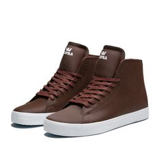 SUPRA THUNDER Shoe | BURGUNDY - WHITE | Official SUPRA Footwear Site