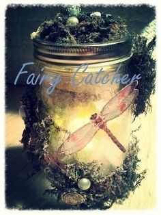 Fairy Jar  •  Free tutorial with pictures on how to decorate a bottle / jar in under 60 minutes