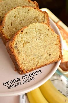 Cream Cheese Banana Bread that is fluffy and moist, more like a banana cake. The cream cheese lends a richness and it& hard to put down! Bon Dessert, Dessert Bread, Dessert Recipes, Banana Bread Cream Cheese, Banana Nut Bread, Bread Machine Banana Bread, Bread Dishes, Bread Machine Recipes, Bread Cake